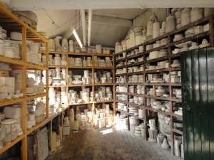 Store of master moulds. Image courtesy of the Potteries Museum and Art Gallery, Stoke-on-Trent