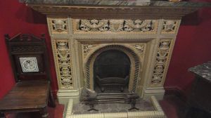 Tiled fireplace - Image courtesy of the Potteries Museum and Art Gallery, Stoke-on-Trent