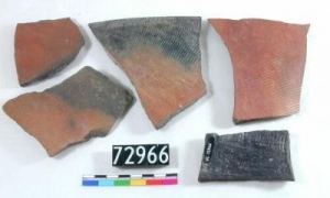 Sherds of Egyptian Pottery, Badarian Period, 4,700 to 4,000 BC - UC 72966. Copyright of the Petrie Museum of Egyptian Archaeology, UCL