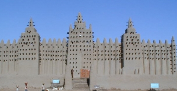 Sun-dried brick Great Mosque of Djenne