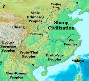 Map of Shang Dynasty - courtesy Thomas Lessman, worldhistorymaps.info