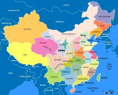 Map of Present China - source CIA Maps
