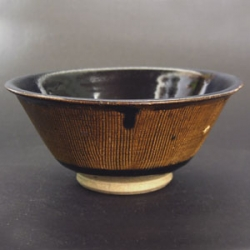 Sung or Chin combed decoration through brown glaze, foot wiped clean for stacking in kiln - courtesy R&G McPherson Antiques