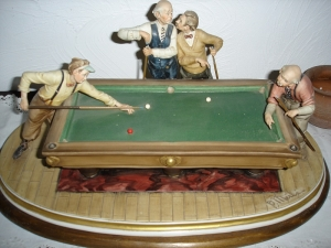 Pool Table with players